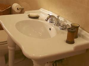 how to replace a leaky bathroom faucet hgtv With how to change a bathroom sink faucet