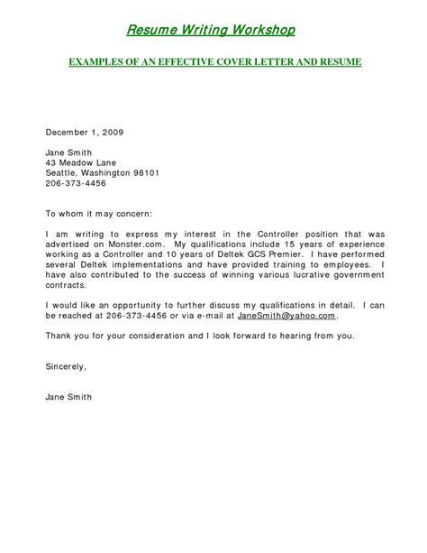 write  cover letter   jobinternship