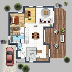 maison cubique toiture monopente talmont st hilaire With superb plans de maison moderne 0 maison cubique jeu de volumes et couleurs vannes depreux