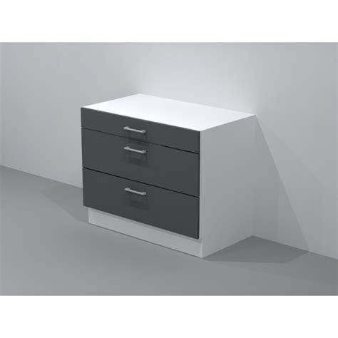 meuble cuisine a tiroir casserolier de cuisine pour plaque de cuisson largeur 120cm