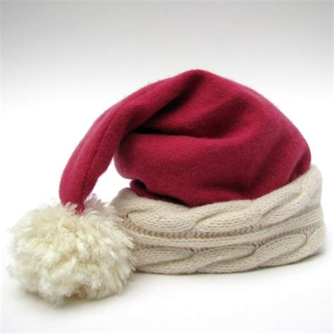 the luxury santa hat in pink cashmere by karenmeyers on etsy