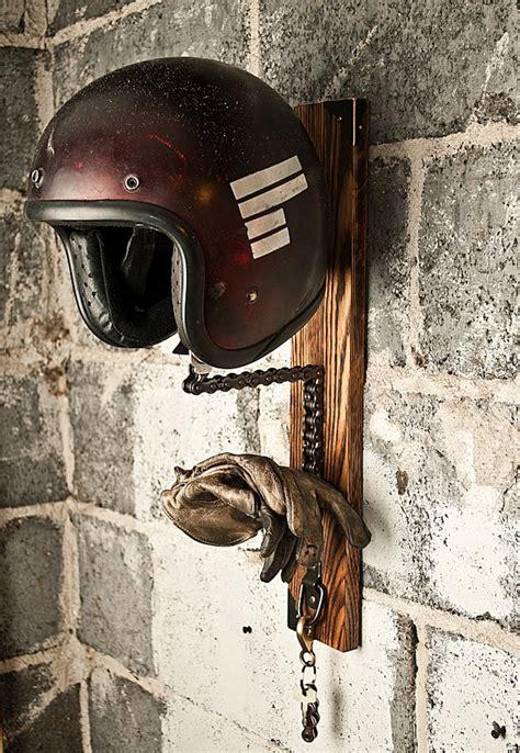 dont throw    chain   diy helmet rack