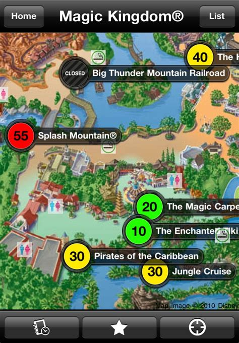 map out your route and see which rides and attractions