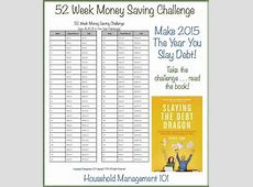 52 Week Money Challenge Save For A Better Year! Money