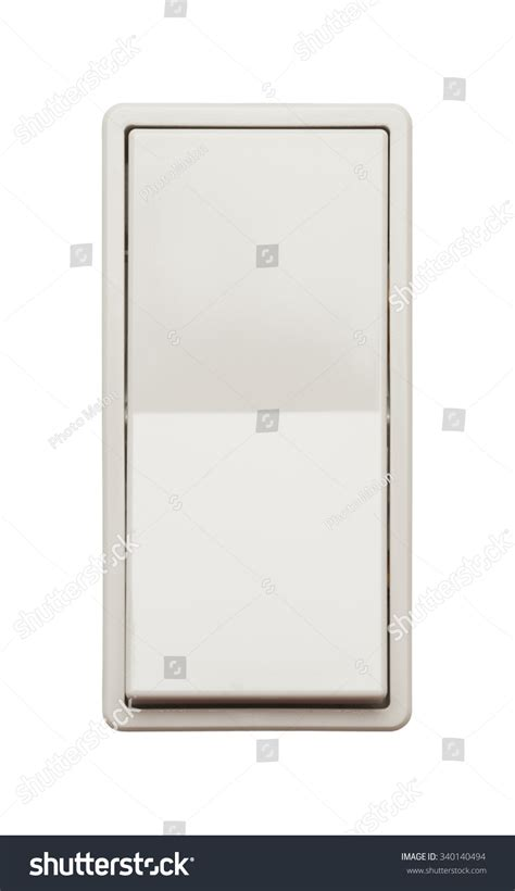 wall light switch isolated on a white background stock