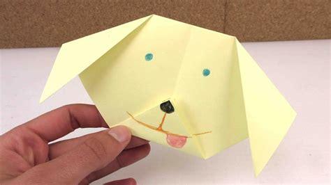 tiere aus papier falten origami hund leicht selber machen ganz einfach einen hund aus papier falten anleitung
