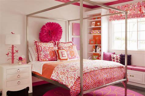 restoration hardware metal desk pink and orange bedding contemporary 39 s room