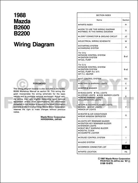 Mazda Pickup Truck Wiring Diagram Manual