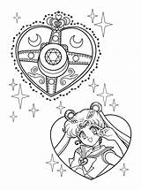 Coloring Pages Sailormoon Sailor Moon Lineart Heart Per sketch template