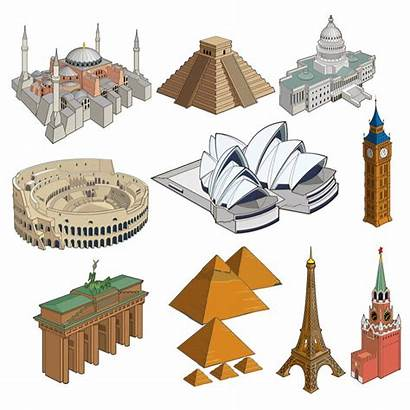 Vector Landmarks Famous Landmark Architecture Clipart Graphics