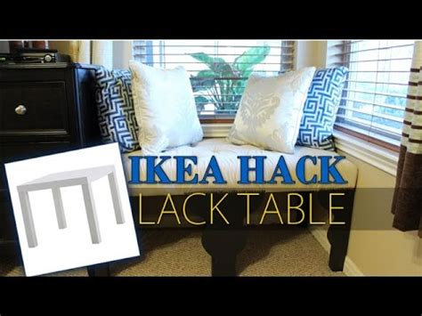 ikea hack lack table transformation diy youtube