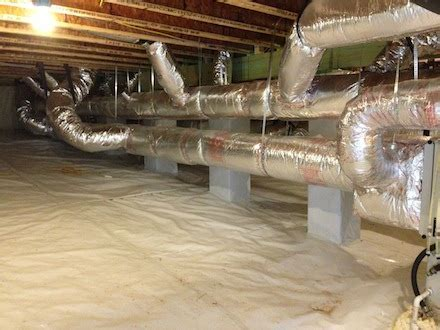 Beautiful Duct System in a Beautiful Crawl Space! Was I