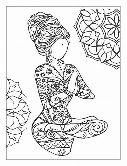 Coloring Pages Meditation Yoga Mindfulness Adult Mandala