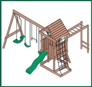 wood swingset plans   build  easy diy woodworking projects home sweet home swing