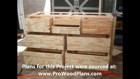 wood dresser plans   build  dresser diy timelapse