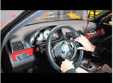 BMW e46 M3 steering trim removal YouTube