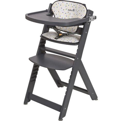 chaise haute 233 volutive en bois gris timba safety pas cher 224 prix auchan