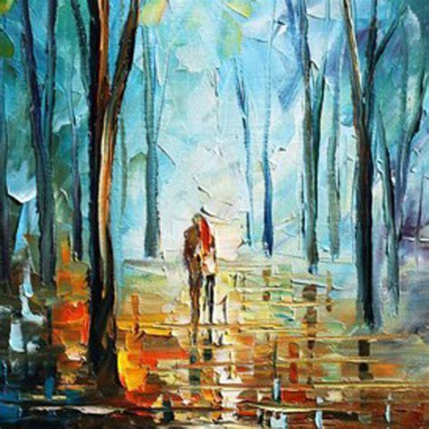 peinture moderne au couteau peinture 224 l huile abstraite couteau moderne paysage peinture 224 l huile couples promener sur