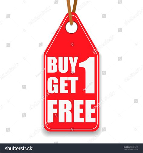 Promotion Tag Buy 1 Get 1 Stock Vector 391629097