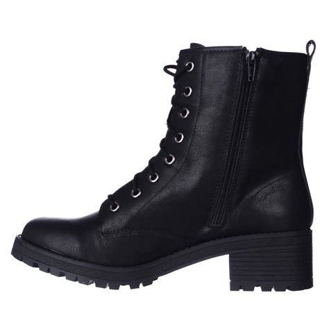 madden girl eloisee lace  combat boots  black lyst