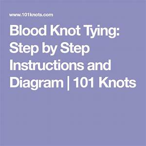 Blood Knot Tying  Step By Step Instructions And Diagram