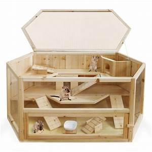 Wooden XXL Rodent Villa Hamster Cage Hut Mouse Gerbil ...