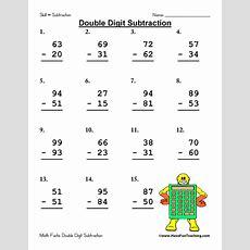 Double Digit Subtraction Worksheet