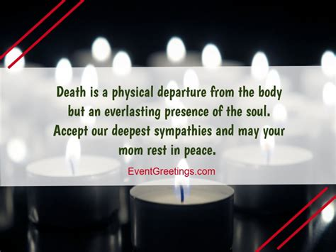 condolence message  death  mother sympathy quotes