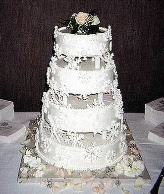 traditional wedding cake  white
