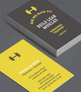 Personal Business Card Designs Personal Trainer Business Card Design Business Card