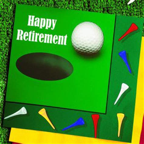 hole happy retirement  ply lunch napkins party