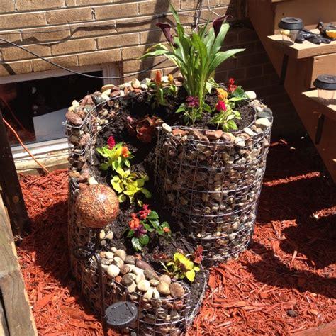 homemade rock flower pot gardening pinterest