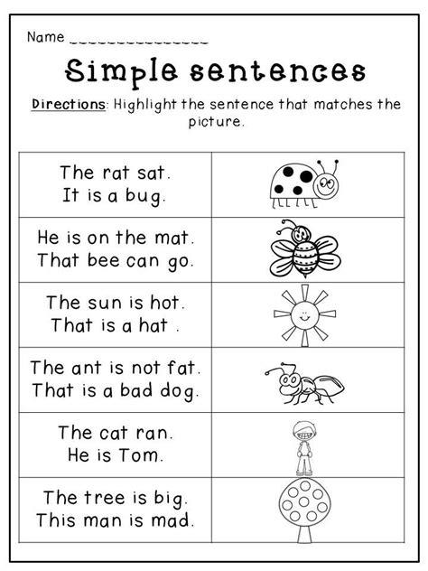 kindergarten spring language packet silly sentences