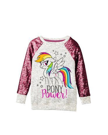 small ls at walmart my little pony girls ls sequin top walmart canada