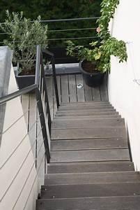 photo terrasse balcon veranda et escalier et marche With deco de terrasse exterieur 6 decoration escalier interieur bois
