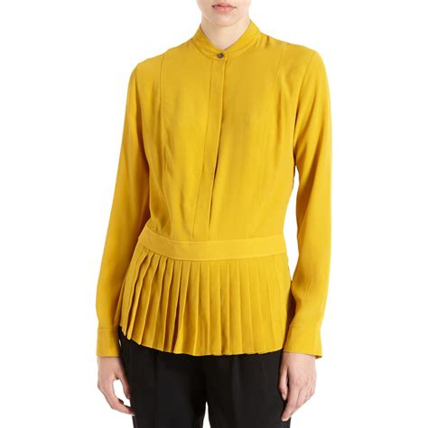 mustard blouse wang apron blouse in yellow mustard lyst