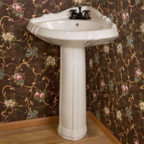 regent corner porcelain pedestal sink pedestal the o