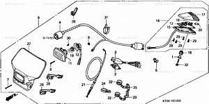 Honda Motorcycle 2001 Oem Parts Diagram For Lighting Set