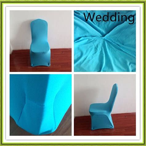 50pcs baby blue spandex chair cover cheap for wedding free