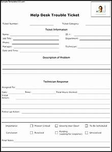 help desk trouble ticket template sample templates With help desk manual template