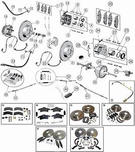 Diagrams For Jeep    Brake Parts    Jeep Grand Cherokee Wj