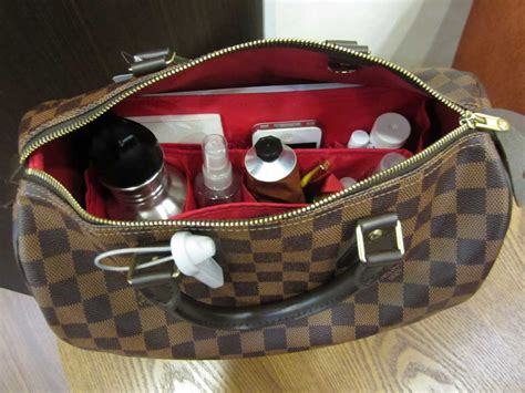 purse organizer insert  louis vuitton speedy  damier