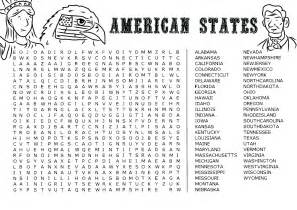 American States Word Search