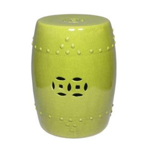 amazon com lime green ceramic garden stool patio lawn