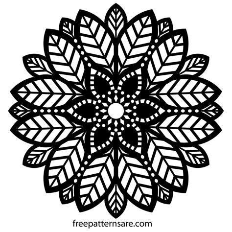 mandala  dxf vector freepatternsarea