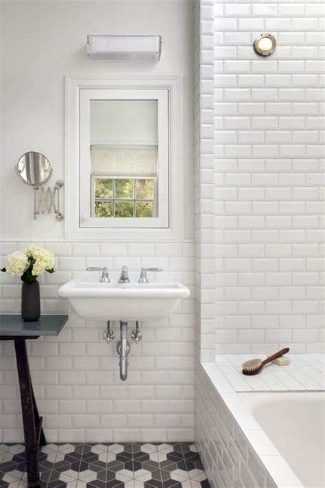 bathroom subway tile 16 best images about beveled subway tile on
