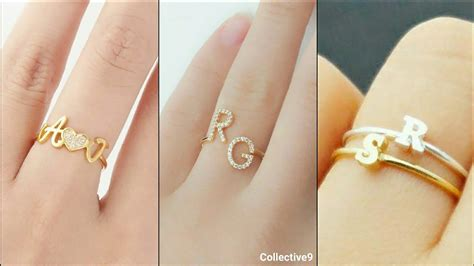 name ring custom initial ring gold initial ring designs youtube