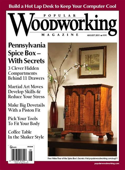 august   popular woodworking magazine