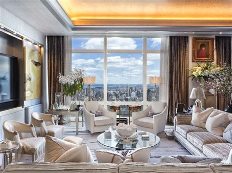 Million Dollar Nyc Penthouse Kitchen Table White Square Wooden Chairs For Tables Small Spaces Ikea What Is A Cover In Terms Of Setting Buy Cloth Linens Sam Hedaya