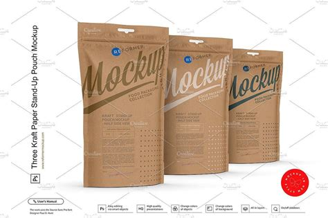 The psd template is fully editable as you can replace your label design using the. Kraft Paper Stand-Up Pouch Mockup | Paper stand, Paper ...